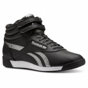 Reebok Freestyle Hi Women's Fitness, Lifestyle Shoes in Black / Silver