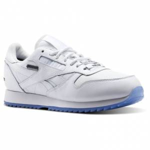 Reebok Classic Leather Ripple GTX Raised By Wolves Men's Running Shoes in White / Black-Ice
