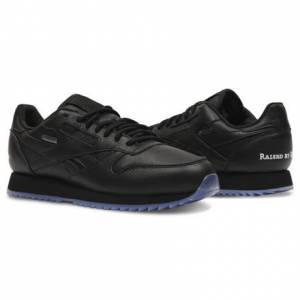 Reebok Classic Leather Ripple GTX Raised By Wolves Men's Running Shoes in Black / White-Ice
