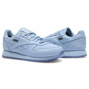 Reebok Classic Leather Ripple GTX Raised By Wolves Men's Running Shoes in Cape Blue / White-Ice