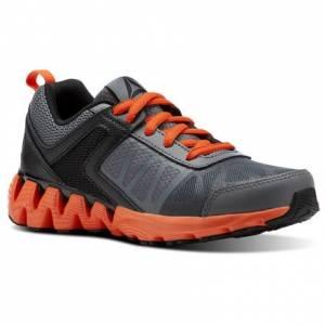 Reebok Zig Kick 2K18 - Pre-School Kids Running Shoes in Alloy / Black / Bright Lava