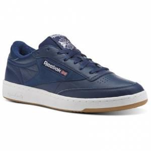 Reebok Club C 85 ESTL Leather Men's Court Shoes in Washed Blue / White-Gum