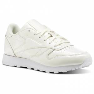 Reebok Classic Leather PATENT Women's Retro Running Shoes in White