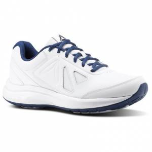Reebok Walk Ultra 6 DMX Max Men's Walking Shoes in White / Washed Blue