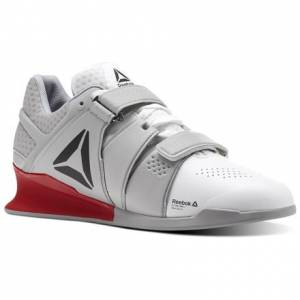 Reebok Legacy Lifter Men's Training Shoes in White / Stark Grey / Primal Red