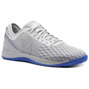Reebok CrossFit Nano 8 Flexweave™ Men's Training Shoes in White / Stark Grey / Skull Grey / Acid Blue