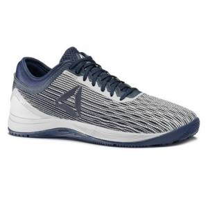 Reebok CrossFit Nano 8 Flexweave Men's Training Shoes in White / Collegiate Navy / Stark Grey