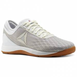 Reebok CrossFit Nano 8 Flexweave Women's Training Shoes in White / Classic White / Excellent Red / Blue / Gum