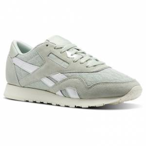 Reebok Classic Nylon Cold Pastel Women's Retro Running Shoes in Eucalyptus