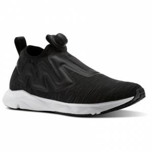 Reebok Pump Supreme Distressed Unisex Lifestyle Shoes in Black / White / Ash Grey