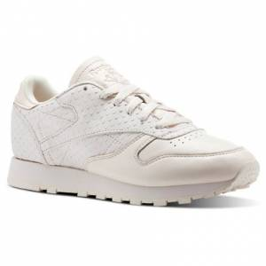 Reebok Classic Leather IL Women's Retro Running Shoes in Pale Pink