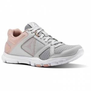 Reebok Yourflex Trainette 10 MT Women's Training Shoes in Skull Grey / Chalk Pink / White