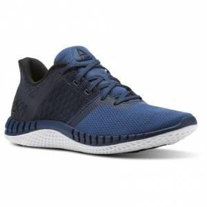 Reebok Print Run NEXT Kids Running Shoes in Washed Blue / Black / White