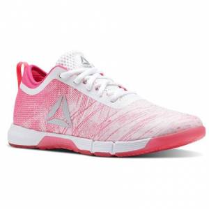 Reebok Speed Her TR Women's Training Shoes in Pale Pink / Acid Pink / White
