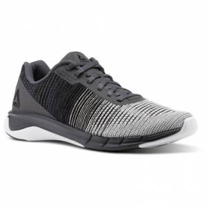 Reebok Fast Flexweave™ Men's Running Shoes in Ash Grey / Black / White