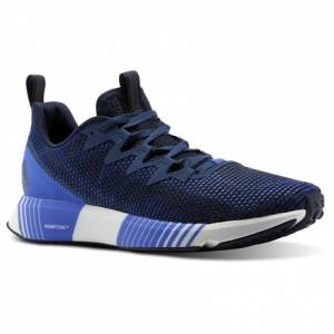 Reebok Fusion Flexweave™ Men's Running Shoes in Collegiate Navy / Washed Blue / Acid Blue
