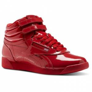 Reebok F/S HI PATENT Women's Fitness Shoes in Primal Red