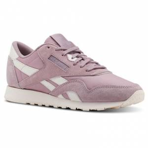 Reebok Classic Nylon Women's Retro Running, Lifestyle Shoes in Lilac