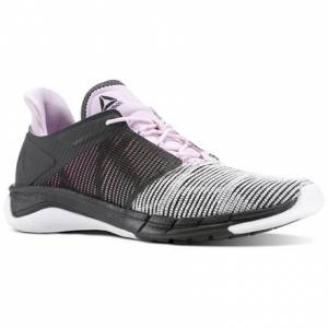 Reebok Fast Flexweave™ Women's Running Shoes in Coal / White / Moonglow / Acid Pink