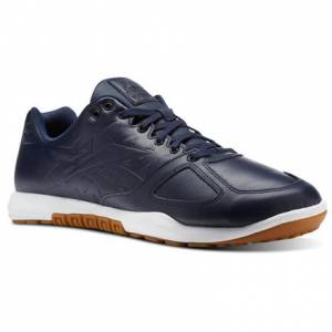 Reebok CrossFit Nano 2.0 Leather Men's Training Shoes in Collegiate Navy / White / Gum