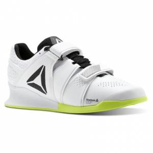 Reebok Legacy Lifter Men's Training Shoes in White / Solar Yellow