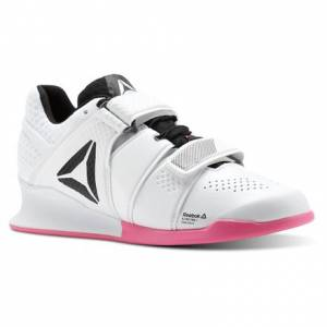 Reebok Legacy Lifter Women's Training Shoes in White / Acid Pink