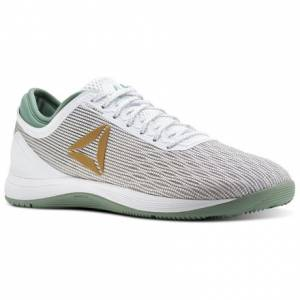 Reebok CrossFit Nano 8 Flexweave Men's Training Shoes in White / Gold Net / Industrial Green
