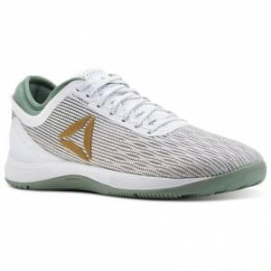Reebok CrossFit Nano 8 Flexweave Women's Training Shoes in White / Gold Net / Industrial Green