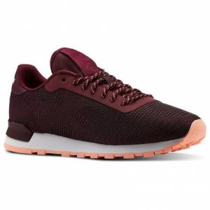 Reebok Classic Leather Flexweave® Women's Retro Running Shoes in Red