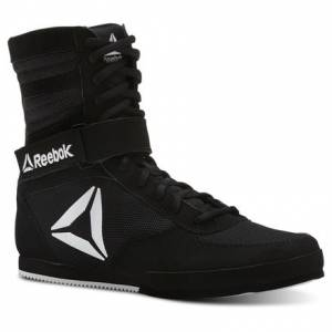 Reebok Boxing Boot Women's Combat Shoes in Black / White