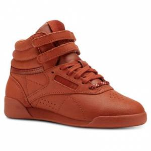 Reebok Freestyle Hi FACE Stockholm Pre-School Fitness Kids Shoes in Mars Dust