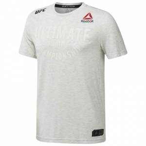 Reebok UFC Fight Night Walkout Jersey Men's MMA T-Shirt in Chalk
