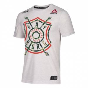 Reebok UFC Jersey Legacy Series UFC 215 Ray Borg Men's MMA T-Shirt in Chalk / Black
