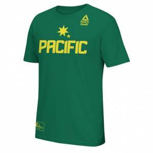 Reebok Team Pacific Invitational Practice Tee Men's Training T-Shirt in Kelly Green