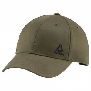 Reebok Essentials Men's Training Logo Cap in Army Green