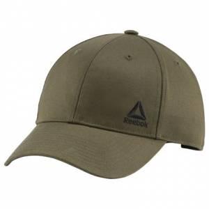 Reebok Essentials Men's Training Logo Cap in Army Green