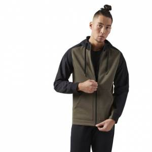 Reebok Training Supply Hoodie Men's Jacket in Army Green