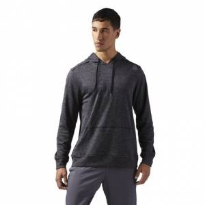 Reebok Fleece Hoodie Men's Training Apparel in Black