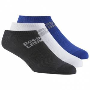 Reebok LES MILLS Studio Unisex Sock - 3pack in Deep Cobalt / Black / White