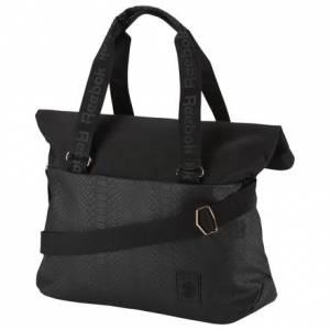 Reebok Classic Unisex Casual Snake Embossed Bag in Black