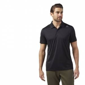 Reebok Sport Essentials Men's Training Polo Shirt in Black