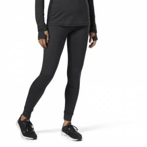 Reebok Women's Training Thermowarm Touch Tights Leggings in Black