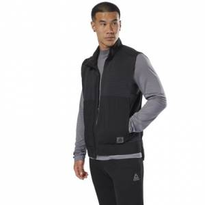 Reebok Thermowarm Deltapeak Men's Running Vest in Black