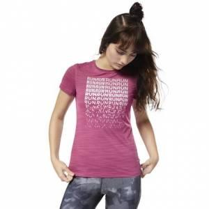 Reebok Women's Running ACTIVCHILL Graphic Tee in Twisted Berry