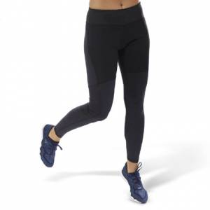 Reebok Women's Running Thermowarm Tights Leggings in Black