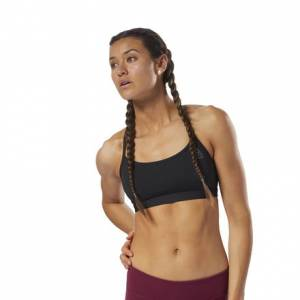 Reebok CrossFit Women's Training Front Rack Sports Bra in Black