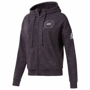 Reebok UFC FG Women's MMA Full-Zip Hoodie in Smoky Volcano