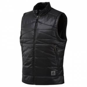 Reebok Men's Outdoor Padded Vest in Black