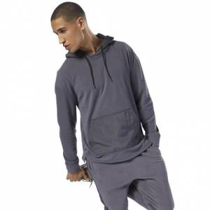 Reebok Men's Training Essentials Microfleece Hoodie in Ash Grey