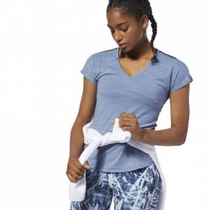 Reebok ACTIVCHILL Women's Training T-Shirt in Blue Slate